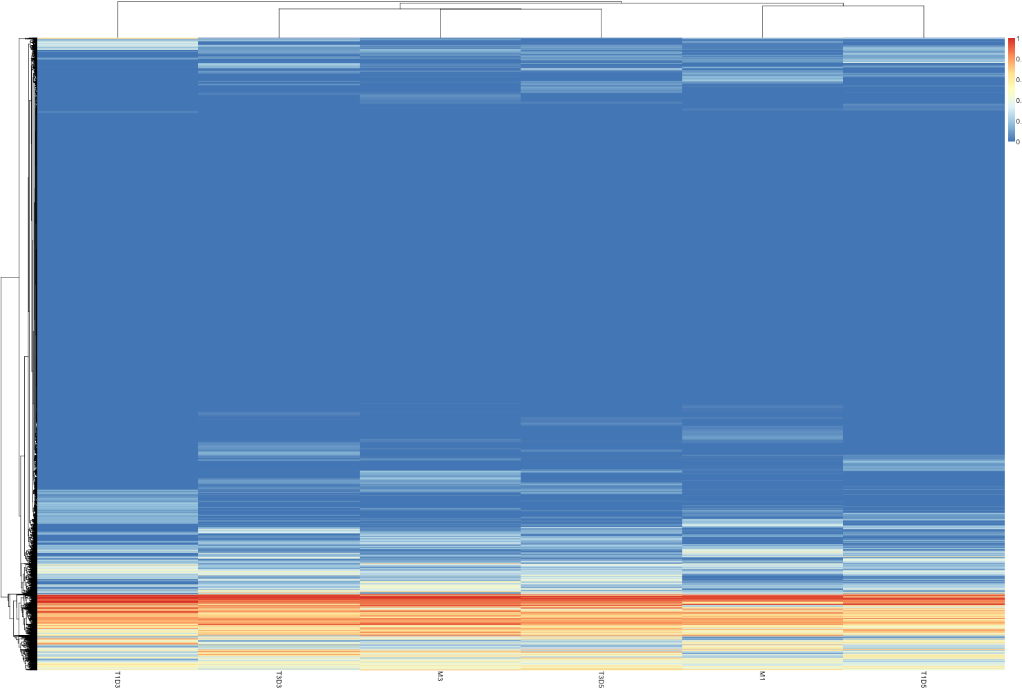 creating 5x coverage file for pheatmap analysis | Claire's lab notebook